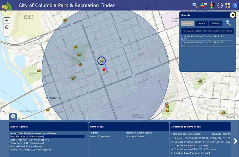 City Of Columbia GIS Landing Page - Columbia sc map